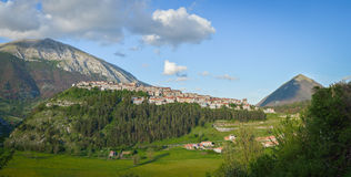 The village of Opi at Abruzzo National Park in Italy Stock Images