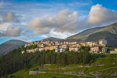 The village of Opi at Abruzzo National Park in Italy Royalty Free Stock Photo
