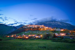 The village of Opi at Abruzzo National Park in Italy Stock Photo
