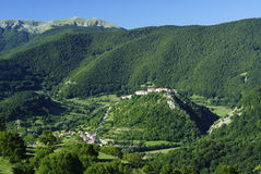 The village of Opi at Abruzzo National Park Royalty Free Stock Images