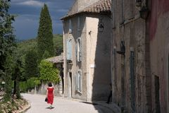 The village Oppede-le-Vieux in the Provence Royalty Free Stock Photography