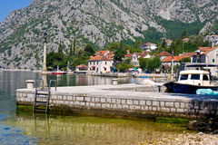 Village Orahovac. Kotor bay, Montenegro, Adriatic sea Stock Photo