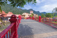 Village oriental, Langkawi, Malaisie Photo libre de droits