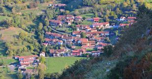 The village of Orle in Asturias. Stock Images