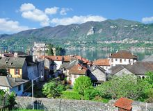 Village of Orta San Giulio,Lake Orta,Piedmont,Italy Royalty Free Stock Photo