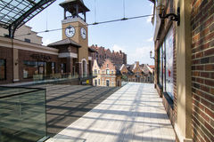Village outlet Manufacture, dutch village with shops Royalty Free Stock Image