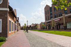 Village outlet Manufacture, dutch village with shops Royalty Free Stock Photo