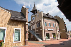 Village outlet Manufacture, dutch village with shops Stock Image