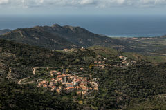 Village of Palasca in Balagne region of Corsica Royalty Free Stock Photography
