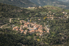 Village of Palasca in Balagne region of Corsica Stock Photography