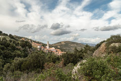 Village of Palasca in Balagne region of Corsica Royalty Free Stock Photo