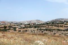 Village Palestine Israël de Bil'in Image libre de droits
