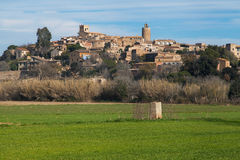 Village of Pals. Medieval village of Pals in Girona, Catalonia Stock Photo