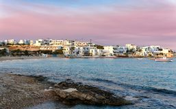 The village of Pano Koufonisi on the small Cyclades Stock Photos