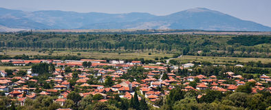 Village Panorama Stock Photography