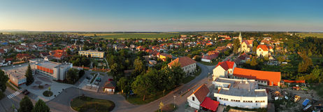 Village Panorama - Cifer in Slovakia Royalty Free Stock Photo
