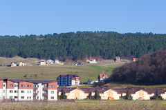 Village panorama with forest Royalty Free Stock Photo
