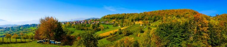 Village panorama. Village sky panorama royalty free stock photography