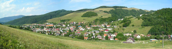 Village panorama. Slovakia. Royalty Free Stock Image
