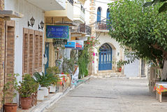 Village Panormo at Crete, Greece royalty free stock image