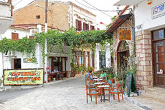 Village Panormo at Crete, Greece stock image