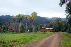 Village in Papua New Guinea. Small village in outback of Papua New Guinea Stock Photos
