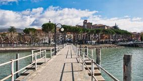 Village of Passignano sul Trasimeno in Italy Royalty Free Stock Images