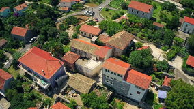 Village on Peljesac peninsula, aerial Royalty Free Stock Image