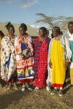 Village people singing at sunset in village of Nairobi National Park, Nairobi, Kenya, Africa Royalty Free Stock Image