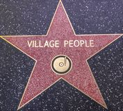 Village People star on the Walk of Fame Stock Photos
