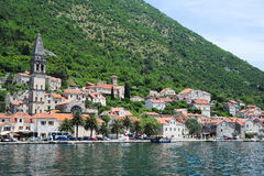 Village of Perast on the bay of Kotor Stock Photos