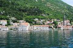 Village of Perast on the bay of Kotor Royalty Free Stock Photos