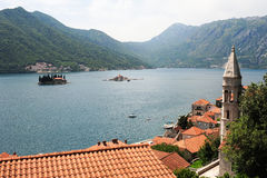 Village of Perast on the bay of Kotor Royalty Free Stock Photography