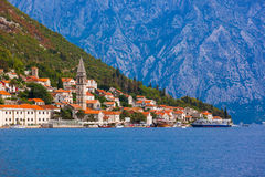 Village Perast on coast of Boka Kotor bay - Montenegro Stock Photography