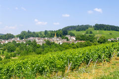 The village of Pernand Vergelesses in Burgundy stock image