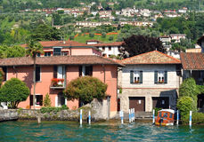 The village of Peschiera Maraglio , Italy Royalty Free Stock Images