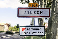 Village without pesticide Stock Image