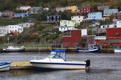 Village of Petty Harbor Newfoundland. Royalty Free Stock Photos