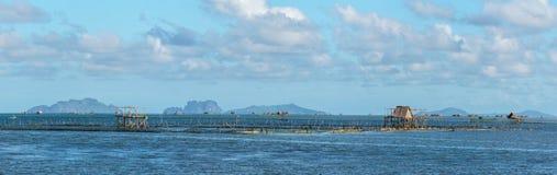 Village philippin sur l'eau photos libres de droits