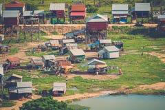 Village Phnom Krom, Siem Reap, Cambodia Stock Photos
