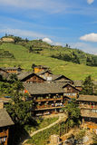 The village of Pingan, part of the Dragons Backbone Rice Terraces Royalty Free Stock Image