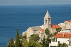 Picturesque view on dalmatian village Pisak in Cro Stock Photo