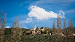 The village of Pissignano Alto in Umbria Italy. stock image