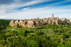 Village of Pitigliano in south Tuscany Stock Photography