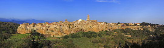 The village of Pitigliano in Tuscany Stock Image