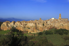 The village of Pitigliano in Tuscany Royalty Free Stock Images