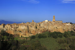 The village of Pitigliano in Tuscany Royalty Free Stock Photos