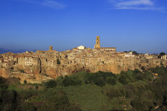 The village of Pitigliano in Tuscany Royalty Free Stock Photography