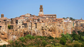 Village of Pitigliano Stock Photography