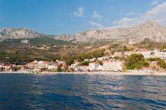 Village Podgora with hotels in Croatia Stock Photos